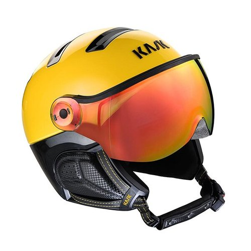 Шлемы KASK ( SHE00062 ) MONTECARLO VISOR 2021 yellow/red mirror 58 (8057099149327) 1
