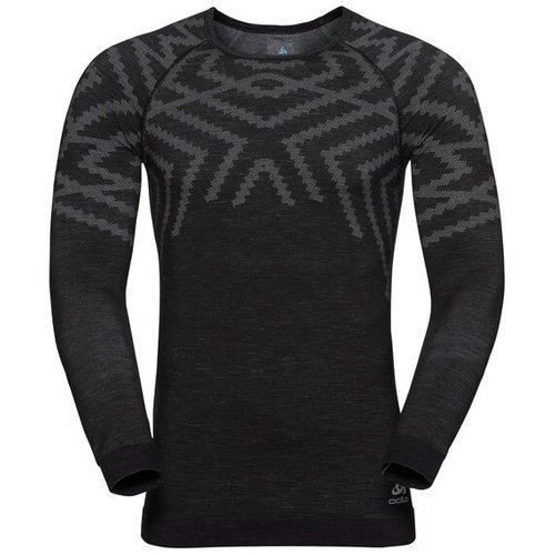 Термофутболка ODLO ( 110712 ) TOP l/s NATURAL + Kinship 2019 L black melange (7613361240928) 1