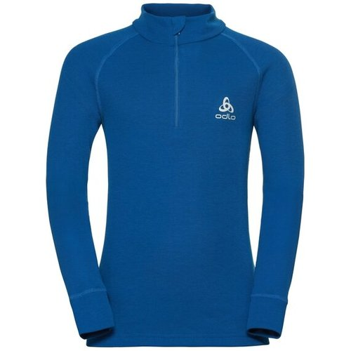 Термофутболка ODLO ( 10739 ) TOP l/s half zip ACTIVE WARM 2019 blue-20800 140 (7613361492716) 1