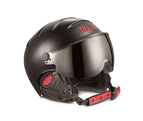 Шлемы KASK ( SHE00035 ) ELITE PRO PHOTOCHROMIC 2019 58 Carbon/Black Red (8057099026888) 1