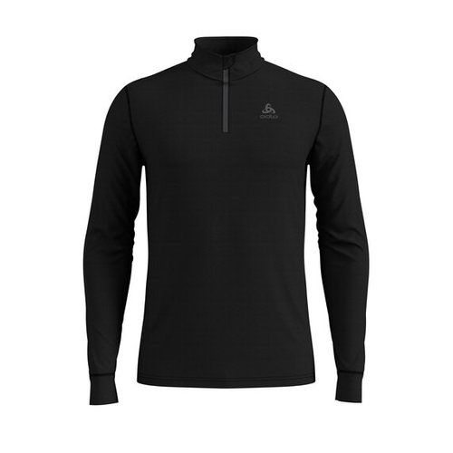 Термофутболка ODLO ( 110802 ) TOP 1/2 zip l/s NATURAL 2019 black - black-15001 L (7613361336461) 1